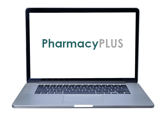 PharmacyPLUS laptop screen